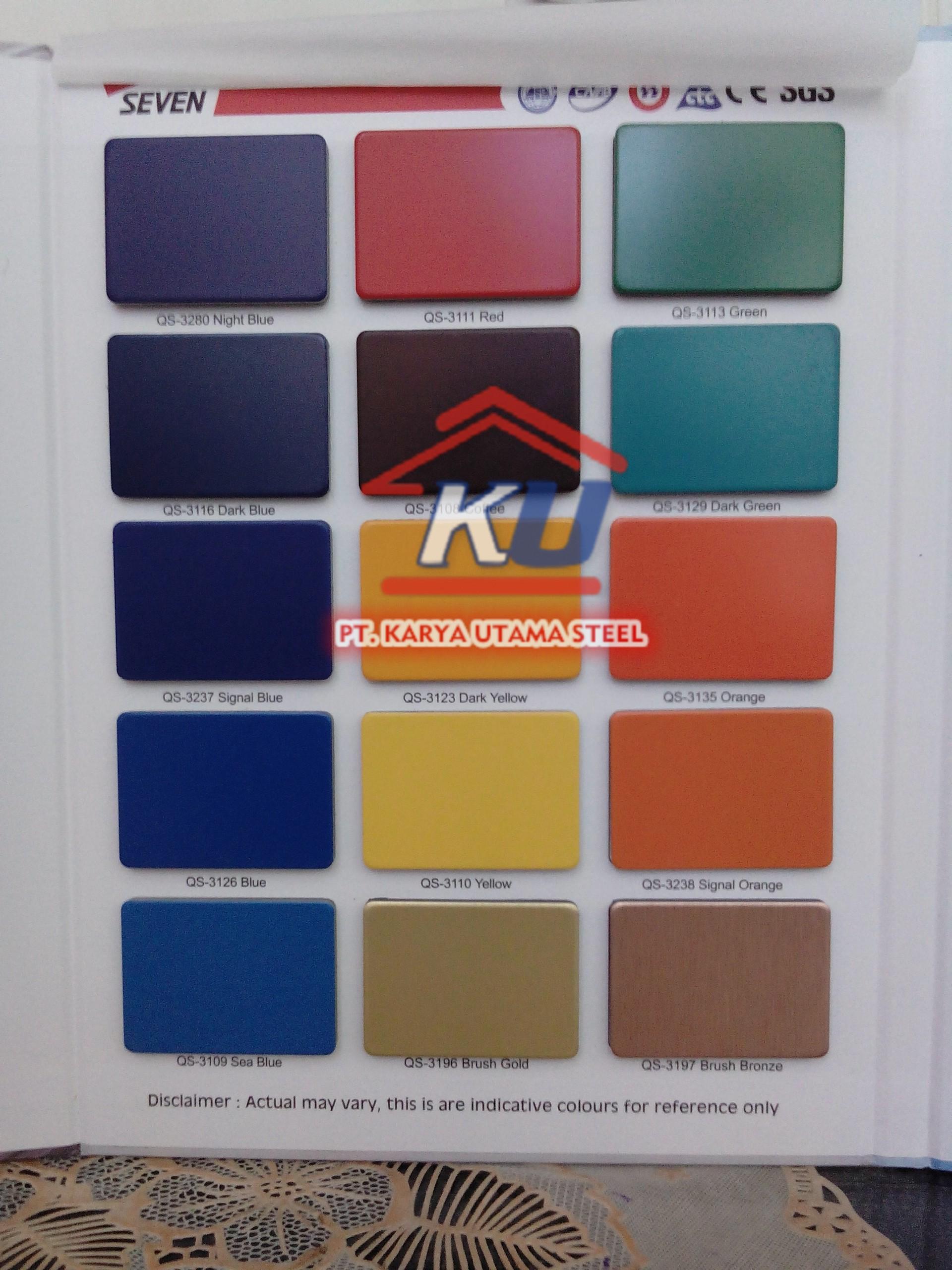 Composite Panel Aluminium ex Seven Murah Tahan Api Ready Semua Warna