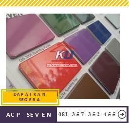Harga ACP Murah Surabaya Ukuran Triplek Merk Seven Warna Doff
